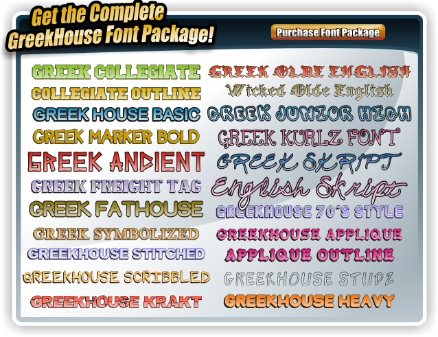 Greek Font Package