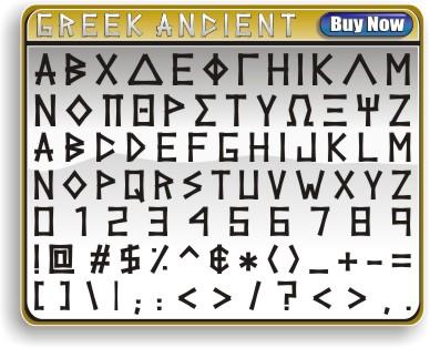 Greek Ancient Font