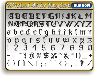 Wicked Olde English Font